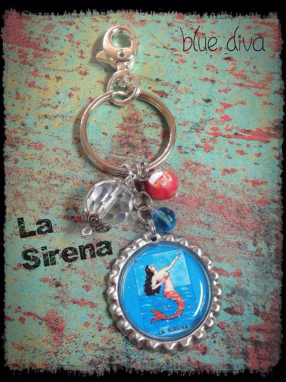 Items Similar To Vintage Mexican Loteria Quot La Sirena
