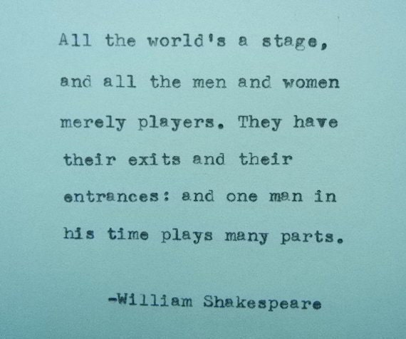 William Shakespeare Poetry Quotes: Items Similar To WILLIAM SHAKESPEARE Quote Typed On