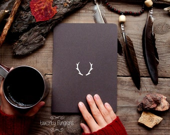 Forest notebook with a carved pattern - Deer horns