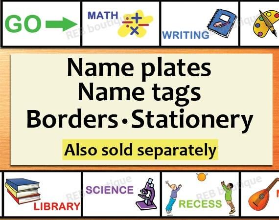 Student Name Plates: PRINTABLE Classroom Name Tags Printable Chevron Name Tags