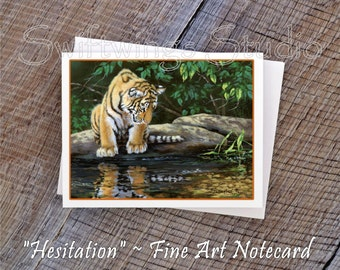 Wildlife Note Cards - Tiger Note Cards - Tiger Cub Note Card - Animal Note Cards - Tiger Prints - Wildlife Stationary