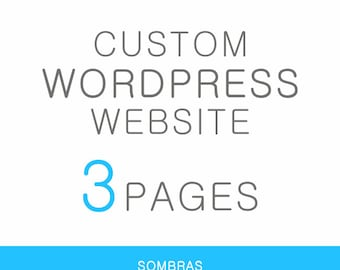 3 Page Custom Wordpress Website Design - Professional self-hosted website for your business