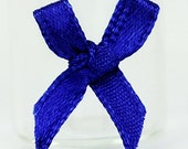 B-057 / Little Satin Ribbon Bows / 100 Pcs / Color - Midnight Blue / Size : 2 cm.