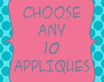 Iron-On Appliques - Choose any 10