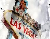 30X40 Welcome to Las Vegas, Famous Las Vegas Sign Las Vegas Strip, fine art photography, landscape, clouds, 8x10, home decor,