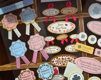 For You Style Sticker Set - Deco Sticker - Sealing Sticker - Tie Sticker - Gift Packing - 4 styles in