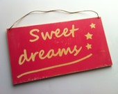 Sweet dreams personalized wood sign