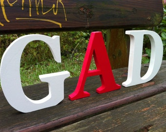 Set of 3 wooden letters custom 1.5
