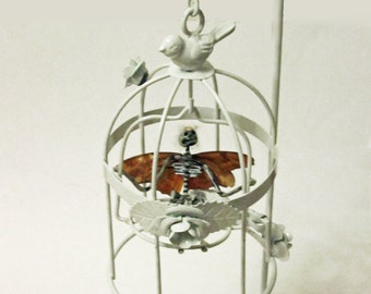 Fairy In A Cage - Soley (Made with Real Butterfly Wings)