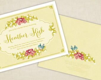 Rose Tea Bridal Shower Invitations