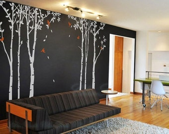 Vinyl wall decals tree decals Kids wall stickers nursery wall decals-Trees forest Nursery room wall decal