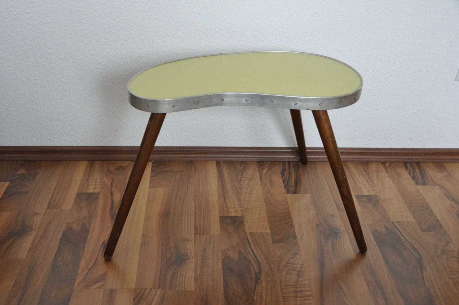 mid century modern plant stand light yellow east germany. Black Bedroom Furniture Sets. Home Design Ideas