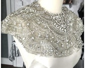 Featured in Vogue - Caspian Couture Embroidered Crystal Capelet