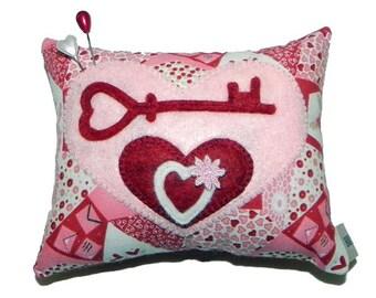 Wool Appliqué Pincushion Pillow