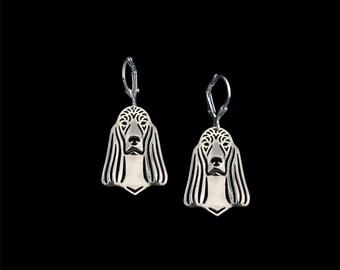 Irish Setter earrings - sterling silver.