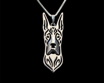 Great Dane jewelry - sterling silver pendant and necklace