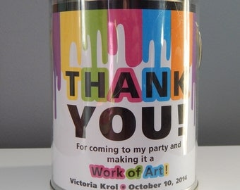 Art Party Paint Bucket Label PRINTABLE