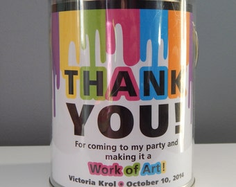 Paint Bucket Label • Art Party • PRINTED