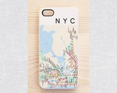 New York map iPhone & Samsung case - iPhone 6, iPhone 4/4S, Samsung Galaxy S5, S3