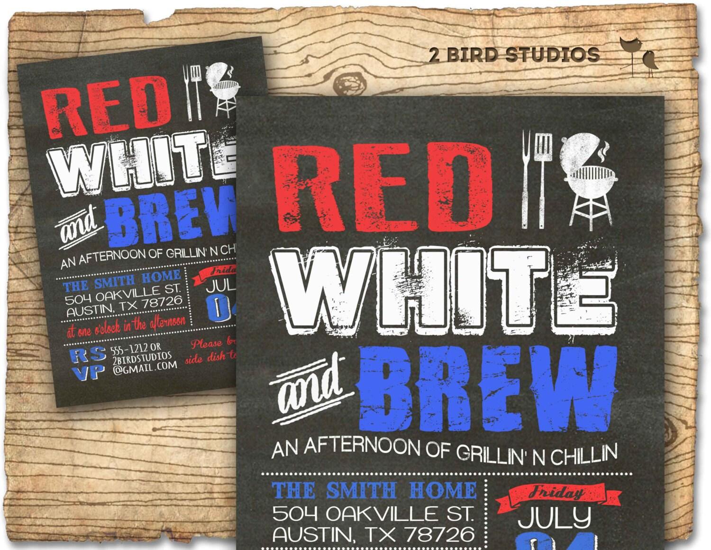 4th of july invitation chalkboard bbq invitation for fourth