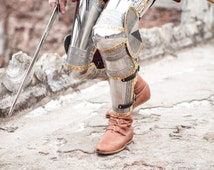 """DISCOUNTED PRICE! Medieval Knight's Leg Armor """"The King's Guard"""" SCA; men's armour"""