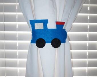 Choo Choo Train Curtain Tie-backs Set of 2