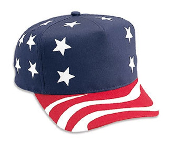 d6821609de7 Custom American Flag Hat Stars Red White Blue Trucker 5 Panel Golf Style  Customize yours today. With your own logo or text! Description  100% Cotton  ...