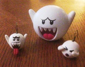 Scaring/Hiding Boo Earrings