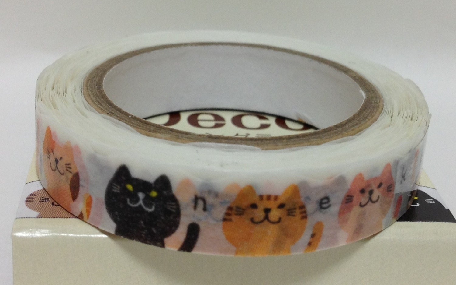 japanese washi tape masking tape deco tape paper tape cat slim. Black Bedroom Furniture Sets. Home Design Ideas