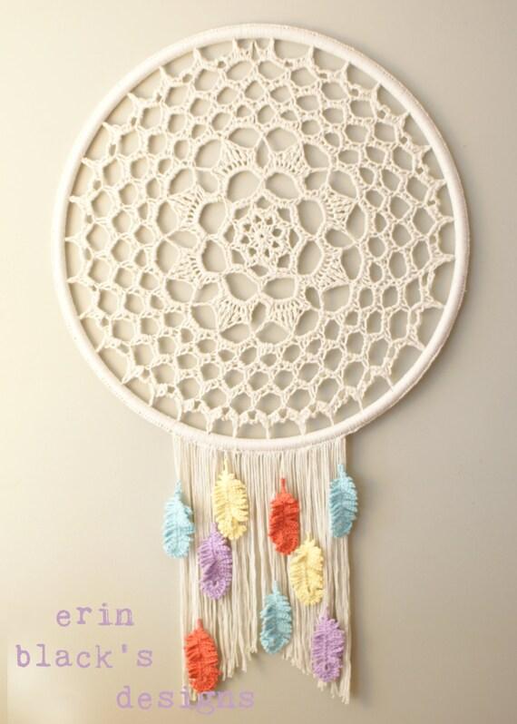 Diy crochet pattern dream a little dream dreamcatcher for Dreamcatcher weave patterns