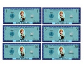 Printable Frozen Anna Play Money Pack - Instant Download JPEG Reward Personalized Chore Money