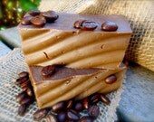 Coffee Vanilla Goat Milk Soap, Organic Homemade Soap, Stocking Stuffer