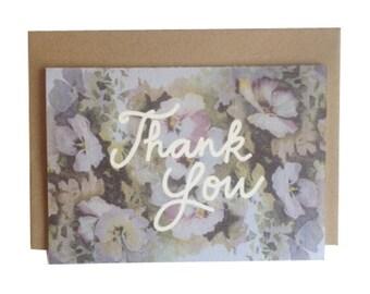 Thank You Pansies Card