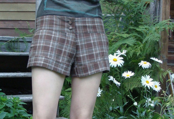 Cuffed Plaid Shorts from Fabstract