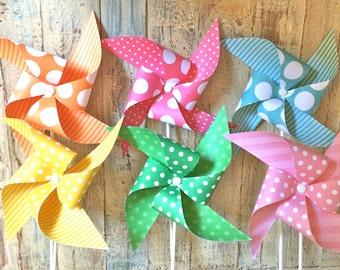 Pinwheels - Spring Circus Collection - Set of 6 pinwheels