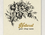 ETSY SHOP Banners Natural II Vintage Botanical Etsy Shop Banner Set