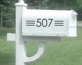 Custom Mailbox House Number Decal, Mailbox Decal, Vinyl Decal,  Modern, Mailbox Number Sticker, Mailbox Address Sticker, Address Decal
