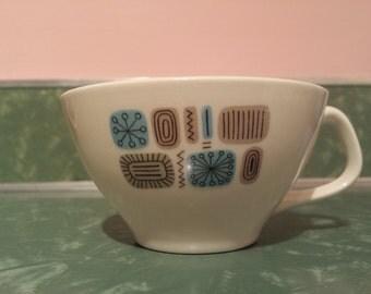TEMPORAMA #COFFEE CUP 1960s Canonsburg Pottery mid century modern dinner ware sputnik atomic era