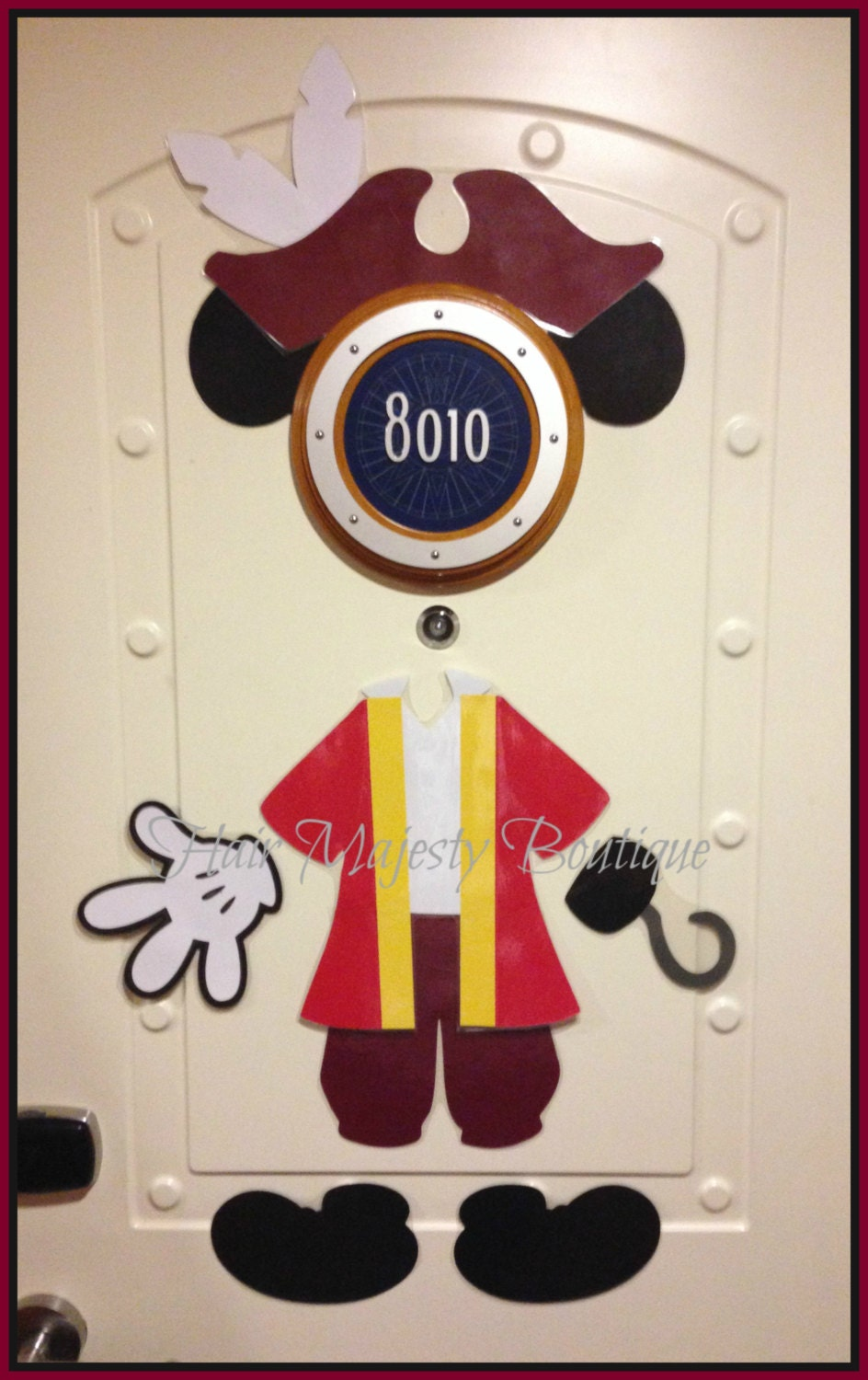 Mickey Mouse As Captain Hook Body Part Magnet For Cruise Door
