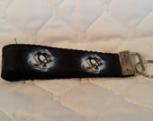 Handcrafted NHL Pittsburgh Penguins Key Chain Wristlet
