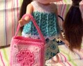 Crochet Bag/Purse for fashion doll (Blythe, MInifee, LIttlefee, Barbie, BJD, Monster High or any doll)