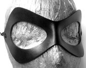 Harley Quinn Mask. Unisex leather mask in  black with adjustable cord. Batman, Robin, ms marvel