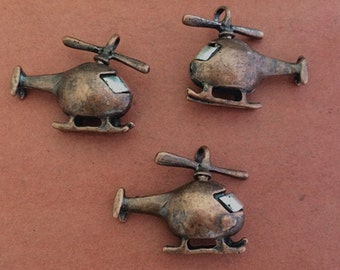 2PCS 27 x 23 x 11mm  Air Plane Charm  pendant  Jewelry Findings