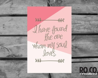 Whom My Soul Loves Print - Instant Download