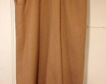 Vintage 1960s Dalton camel wool pencil skirt