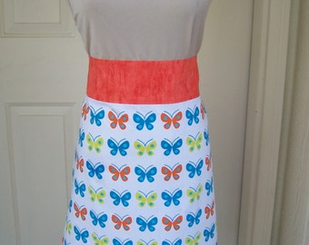 Colorful Butterfly Women's Half Apron