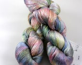 Silk Lace - Hullaballoo Tie-Dye, hand-dyed yarn, 100% silk 2-ply 1094 yds