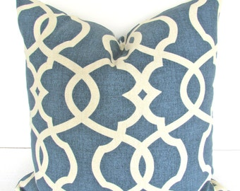 BLUE PILLOWS SALE Navy Blue Denim Throw Pillow Covers Dark Blue Denim pillows 12x18 16 20 Lumbar Blue Pillows Geometric Home and living