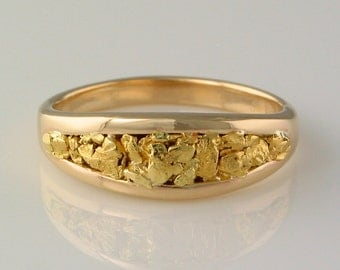 Style #110 Ring in 14k Yellow Gold inlaid with 22kt Gold