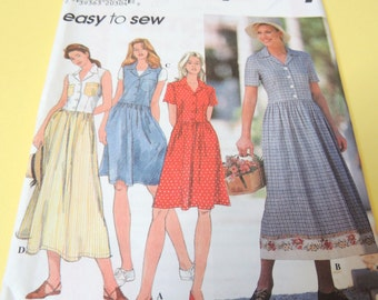 Simplicity 7639 Misses/Miss/Petite Dress sizes 8 to 12 Easy to Sew Uncut